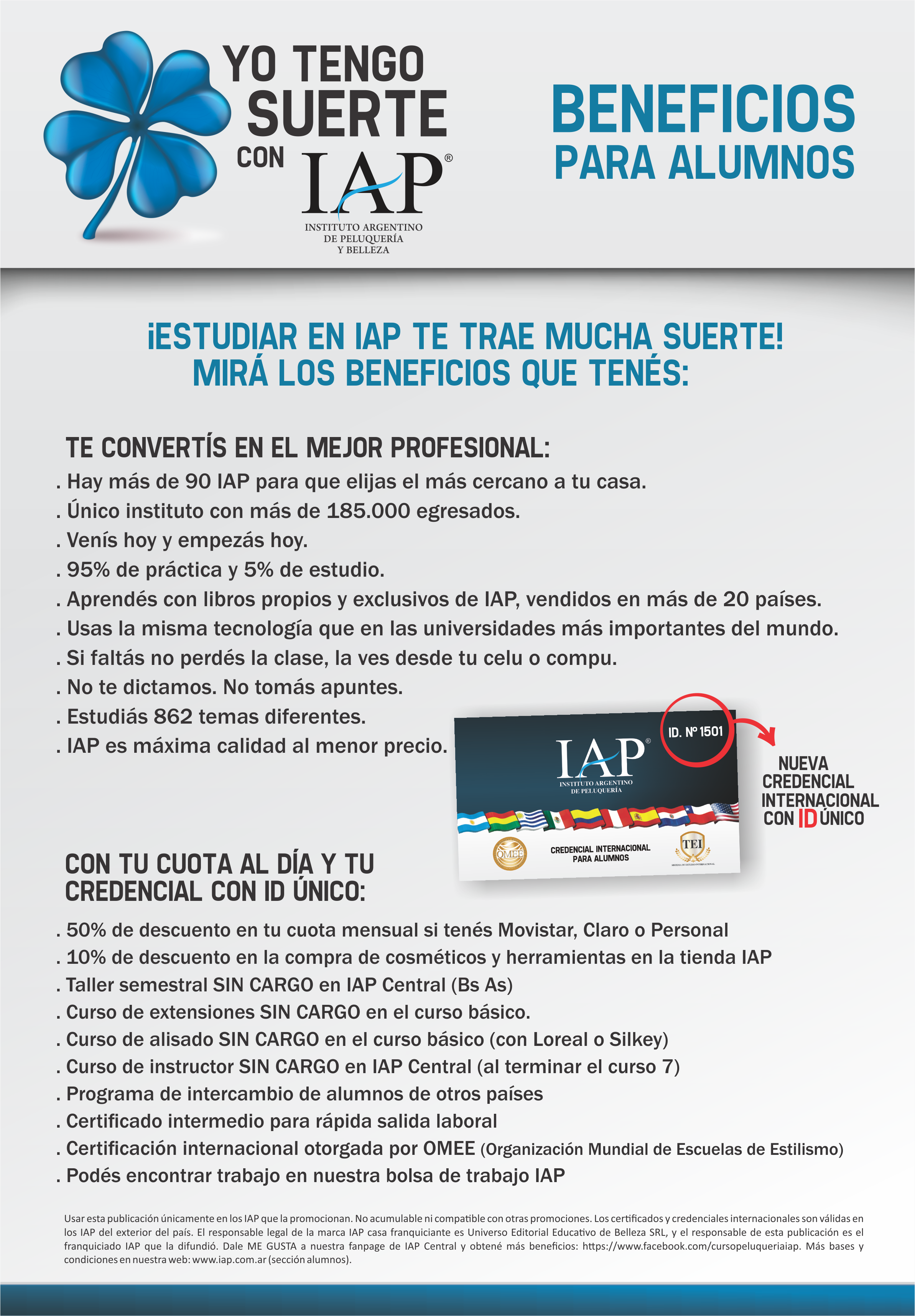 Beneficios para Alumnos IAP